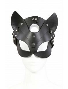 "1 232406096-BK Masque aspect cuir ""Chat"""