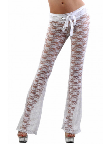 50251P-WH Low waist Pants in lace