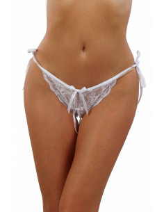 STA05-WH Slit lace Panties,...