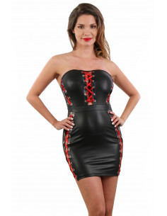 1 Robe bustier en Wetlook
