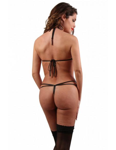 3 Body en Wetlook seins nus, ouvert et fendu à l entrejambe
