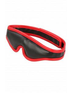 1 Masque molletonné en similicuir noir et rouge