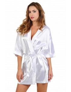 1 Robe kimono en satin. Ceinture taille haute 2 passants. Taille unique Composition : Polyester 95%, C