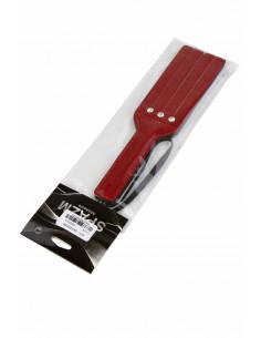 1 Mini Paddle en similicuir verni, inscrustation 3 strass
