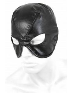 1 Demi masque en similicuir. Fermeture laçage dos.