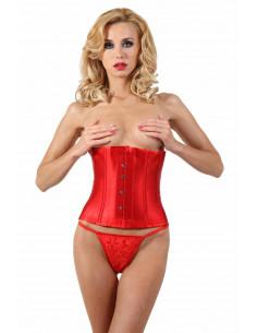 1 Serre-taille. Fermeture agrafes devant, ajustement laçage corset dos.
