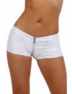 1 Minishort taille basse, fermeture zip devant