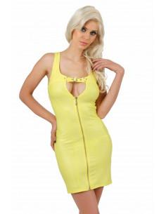 1 Ouverture zip devant. Ajustement laçage corset dos