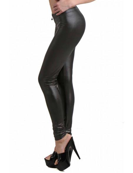 2 Pantalon slim taille basse. Ceinture élastique. Fermeture zip devant