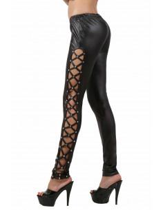 1 Pantalon slim taille basse. Ceinture élastique