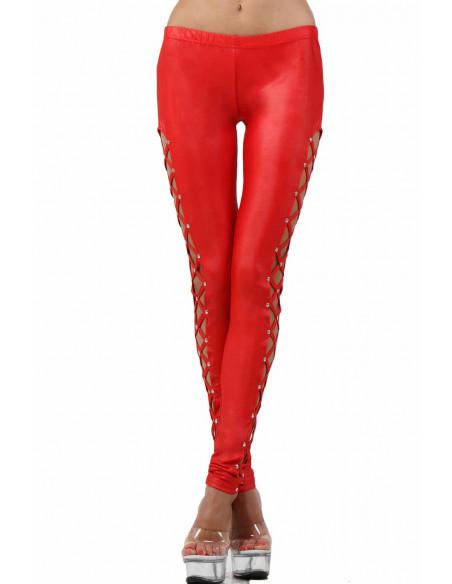 2 Pantalon slim taille basse. Ceinture élastique