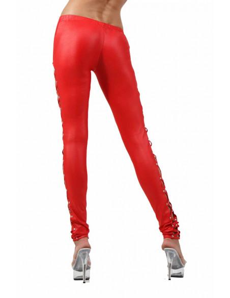 3 Pantalon slim taille basse. Ceinture élastique