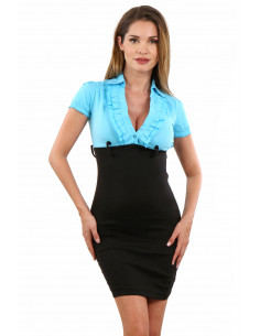 1 Robe taille haute stretch. Composition : 95% Polyester, 5% Coton