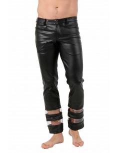 1 Pantalon en simili-cuir et vinyle transparent